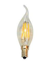 cheap -1PCS 2W E14 LED Filament Bulbs CA35 2 leds COB Dimmable Decorative Warm White 200lm 2800-3200K AC 220-240V