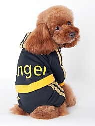 cheap -Cat Dog Hoodie Jumpsuit Jersey Dog Clothes Stripe Black Pink Cotton Costume For Pets Men's Women's Holiday Sports