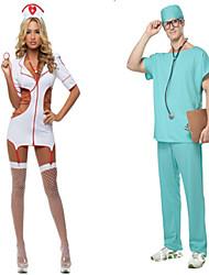 Infermieri/e Costumi Cosplay Vestito da Serata Elegante Uomo Halloween Feste/vacanze Costumi Halloween Tinta unita