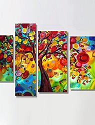 pronta per essere appesa telaio allungato la pittura a olio dipinta a mano i soldi albero di natale decorazione della parete di arte