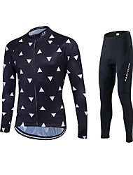 Fastcute Maglia con pantaloni da ciclismo Per uomo Per donna Unisex Manica lunga Bicicletta Maglietta/Maglia Calze/Collant/Cosciali Tuta