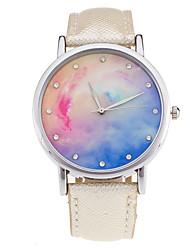 cheap -New Fashion Watch Women Star Sky Pattern Rhinestone Casual Quartz Watch Ladies Popular Leather Strap Elegant Wristwatch