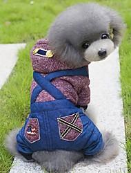 Cachorro Camisola com Capuz Macacão Roupas para Cães Férias Fashion Formais Verde Vinho Ocasiões Especiais Para animais de estimação