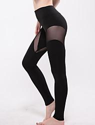 Недорогие -Для женщин Для женщин Один цвет / С перекрещивающимися элементами Legging,Полиэстер