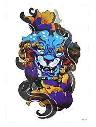 1pc DIY Tattoo Chinese Dragon Kylin Head Flower Women Men Body Art Design Temporary Tattoo Sticker HB-275