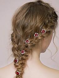 Недорогие -Стразы Сплав Ободки Гребни Цветы Придерживайтесь волос Аксессуар для волос Заставка