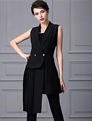 Baoyan® Femme Col Rond Claudine Sans Manches Au dessus des genoux Robes-888067