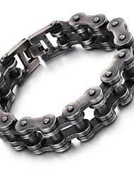 cheap -Men's Stainless Steel Chain Bracelet - Fashion Geometric Black Bracelet For Christmas Gifts Party Anniversary