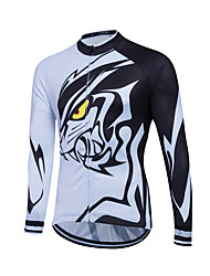 cheap -Sports Cycling Jersey Women's / Men's / Kid's / Unisex Long Sleeve BikeBreathable / Thermal / Warm / Quick Dry / Front Zipper /
