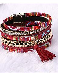 cheap -Tassel Chain Bracelet Cuff Bracelet - Leather Tassel, Fashion Bracelet Pink / Blue / Lemon / Rose Gold For Wedding Party Daily