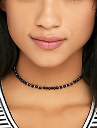 cheap -Women Fashion Simple Bohemian Handmade Beads Necklace Choker Necklace 1pc