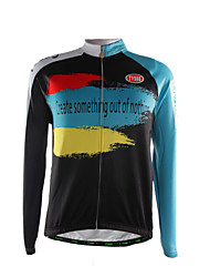 Sports Bike/Cycling Tops Men's Long Sleeve Breathable / Front Zipper /Ultra Light Fabric / Thermal / WarmPolyester /