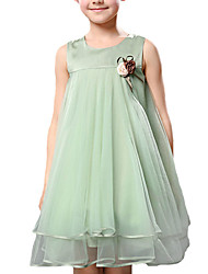 cheap -Girl's Daily Solid DressPolyester Summer Green / Purple