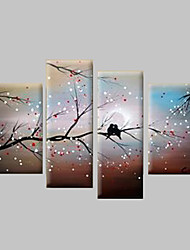 cheap -Hand-Painted Landscape Any Shape Canvas Oil Painting Home Decoration Four Panels
