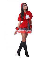 billige -Kostume Oktoberfest / Karriere Kostumer Halloween / Jul / Karneval / Nytår / Oktoberfest Rød Ensfarvet Terylene Nederdel / Hovedstykke