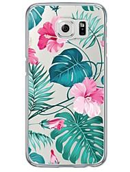 Per Samsung Galaxy S7 Edge Ultra sottile / Traslucido Custodia Custodia posteriore Custodia Fiore decorativo Morbido TPU SamsungS7 edge /