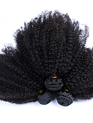 cheap -Indian Hair Kinky Curly Afro Human Hair Weaves 3 Pieces Hot Sale Natural Color Hair Weaves