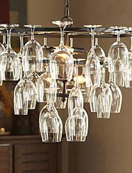 baratos -e12 / E14 base do bulbo luzes vintage pendente com 4 luzes no recurso copo de vinho (vinho de vidro não incluído)