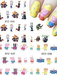 11 Adesivi per manicure Sticker per il trasferimento di acqua Cosmetici e trucchi Fantasie design per manicure