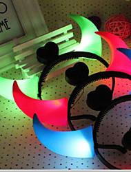 Halloween lampe costumes lampe bandeau tête de corne de cercle lumineux enfants de corne décorations fantaisie couleur aléatoire