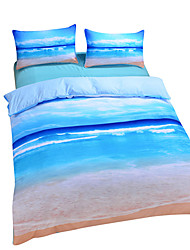 cheap -Duvet Cover Sets 3D Poly / Cotton Reactive Print 3 Piece