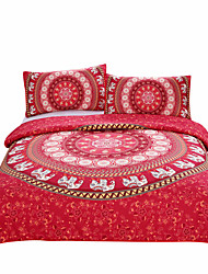 cheap -BeddingOutlet Red Mandala Bedding Home Elephant Messenger Indian Bed Linen Soft Fabric Moroccan Bedclothes 3Pcs Real
