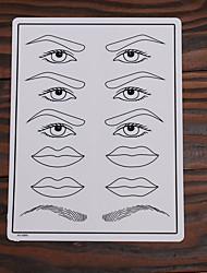 cheap -10Pcs Tattoo Makeup Practice Skin Fake Skin for Eyebrow Lips and Eyelinner 15*20cm