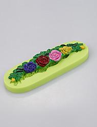 baratos -Forma de flor bolo de fondant molde de silicone para o molde em torno da cor das bordas aleatória