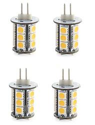 preiswerte -G4 LED Doppel-Pin Leuchten T 18 LEDs SMD 5050 Dekorativ Warmes Weiß Kühles Weiß 300-400lm 3000/6000K DC 12V
