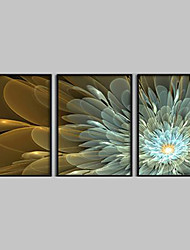 Canvas Set Floral/Botanical Modern Traditional,Three Panels Horizontal Print Wall Decor For Home Decoration