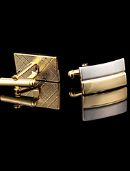 cheap -Golden Cufflinks Copper Gold Plated Fashion Gift Boxes & Bags Wedding Party Daily Casual Men's Costume Jewelry