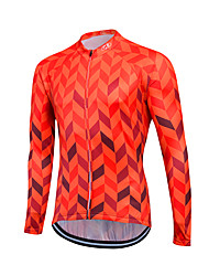cheap -Fastcute Cycling Jersey Men's Women's Unisex Long Sleeves Bike Sweatshirt Jersey Top Quick Dry Front Zipper Breathable Soft YKK Zipper