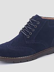 Masculino-Botas-Conforto-Rasteiro-Azul Marrom Verde Camelo-Tecido-Casual