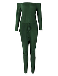 cheap -Women's Jumpsuit - Solid Colored, Backless