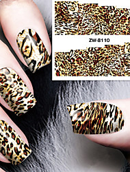 cheap -Fashion Printing Pattern Water Transfer Printing Leopard Print Nail Stickers