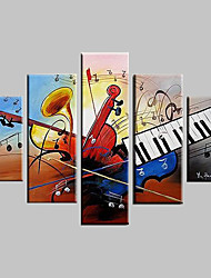 Hand-Painted Abstract Landscape Fantasy Abstract Landscape Any Shape Five Panels Canvas Oil Painting For Home Decoration