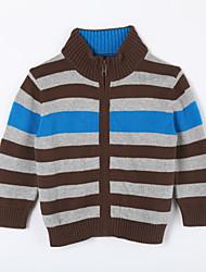 povoljno -Pamuk Prugasti uzorak Dnevno Jesen Džemper i kardigan Žutomrk