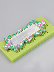 Lace frame shaped silicone fondant cake cake chocolate silicone molds decoration tools bakeware Color Random