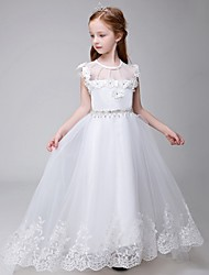 robe de bal chapelle train robe de fille fleur - tulle sans manches cravate cravate par lovelybees