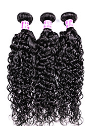Water Wave Hairs 3 Bundles Brazilian Virgin Hair Extensions 300 gram Brazilian Human Hair Bundles Women Hairs