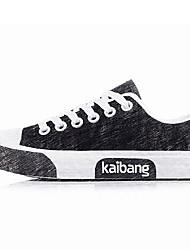 povoljno -Uniseks Cipele Tkanina Proljeće Jesen Udobne cipele Sneakers Vezanje za Kauzalni Obala Crn Crvena