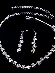 cheap -Women's AAA Cubic Zirconia Jewelry Set - Drop Dangling Style, Classic, Fashion Include Gold / Silver For Wedding Party Special Occasion / Anniversary / Engagement / Gift / Daily / Casual