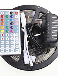 cheap -5M 16.4ft Waterproof RGB 300x5630 SMD LED  Flexible LED Light Strips +  44 Key IR 12V 2A Power Supply AC100-240V