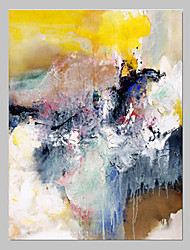 levne -Ručně malované Abstraktní Jeden panel Plátno Hang-malované olejomalba For Home dekorace