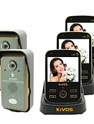 KiVOS KDB302A Wireless Video Doorbell Door Bell Two Drag Three Remote Monitoring Camera Lock
