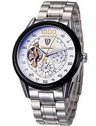 levne -Tevise Pánské Automatické natahování mechanické hodinky Náramkové hodinky Chronograf Voděodolné Nerez Kapela Cool Stříbro