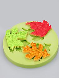 3cavit feuille de feuille d'érable mouchoir fondant pour le bonbon au chocolat savon argile résine artisanat couleur aléatoire