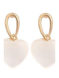 cheap -New Earings Fashion Jewelry Gold Plated Cute White Peach Heart Opal Drop Earrings For Women Vintage Earring brinco