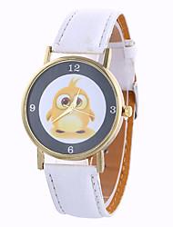 baratos -Mulheres Relógio de Pulso Fase da lua / Legal PU Banda Amuleto / Vintage / Doce Preta / Branco