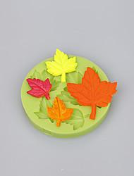 Недорогие -Клен лист различные формы торт украшения инструменты для фондант торт шоколадные конфеты цвет случайный